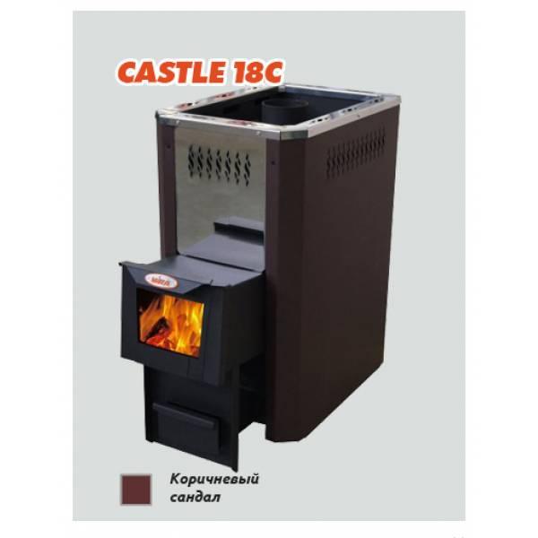 Печь для бани и сауны Vira CASTLE -18С (со стеклом)/ CASTLE -18СК (стекло/ короткий топливный канал)