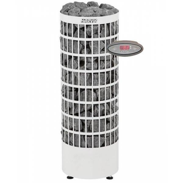 Печь для бани Harvia Cilindro PC70VEE электрическая, пульт в комплекте, белая
