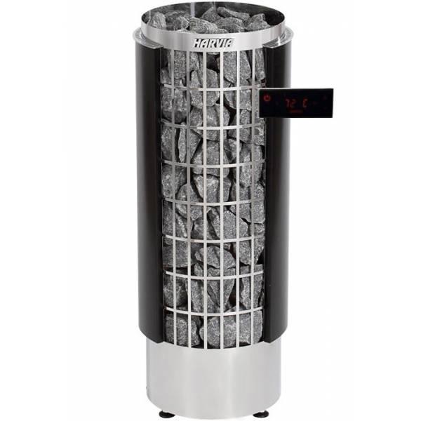Печь для бани Harvia Cilindro PC110HEE электрическая, пульт в комплекте, черная