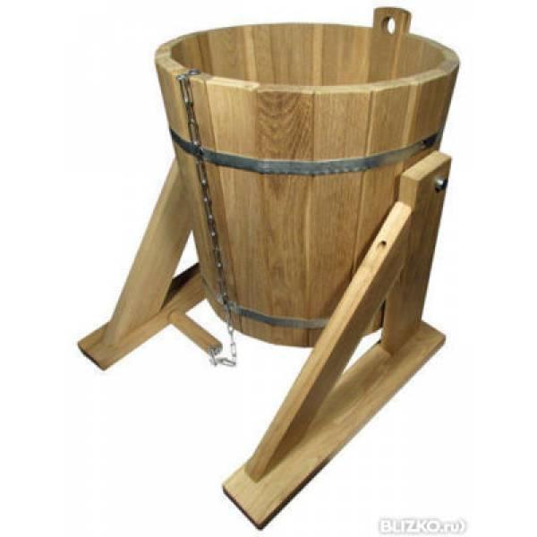 Обливное ведро на 22 литров из чистого дерева ДУБ