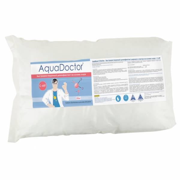 Быстрорастворимый дезинфектант на основе хлора AquaDoctor C-60T 50 кг в таблетках