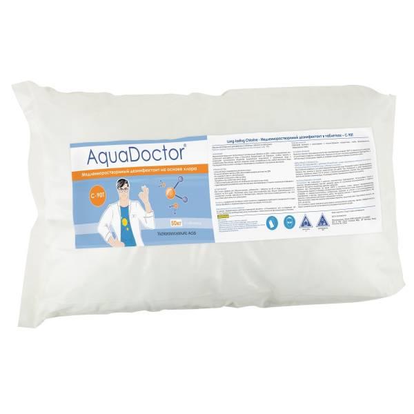 Медленнорастворимый дезинфектант на основе хлора AquaDoctor C-90T 50 кг